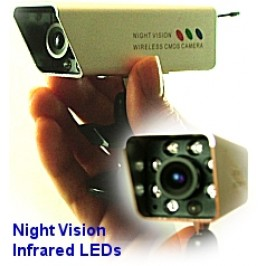 2.4GHz Night Vision Wireless Camera with 3 hour Battery