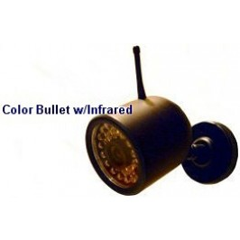 2.4GHz Color Bullet with Infrared - Silver Color Only