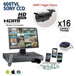 16 Camera CCTV System with Night Vision