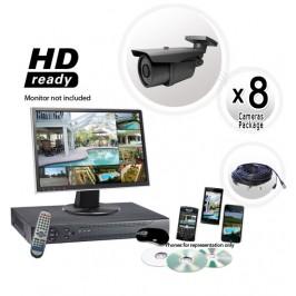 8 Camera System with 700TVL 200ft IR Cameras