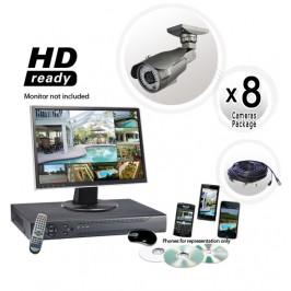 8 Channel Surveillance System, 700TVL 200FT IR