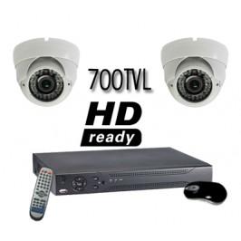 700 TVL High Resolution Vandal Proof 2  Camera System