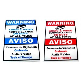 9x6inch Blue or Red Colored Signs Available depending on stock