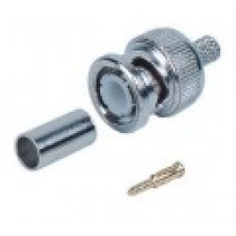 BNC crimp connector for coax RG59 cable