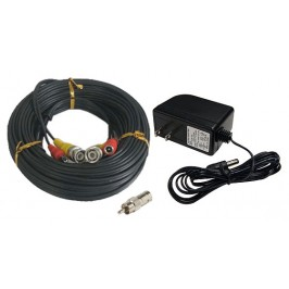 150ft Security Camera Cable Pack - 150ft Siamese Video Power Cable and 2 Amp Power Supply