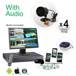 4 Camera System with Audio