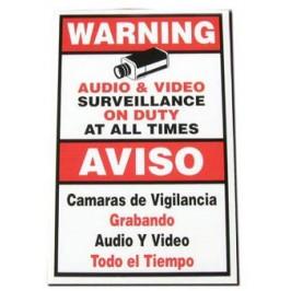 """18"""" x 12"""" Warning Sign"""
