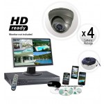 4 Dome Camera System with Grey Cameras