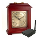 Covert Digital Wireless Mantle Clock with RCA Receiver