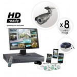 Long Range Night Vision 8 Camera System 700TVL 5-50mm Lens