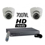 700 TVL High Resolution Vandal Proof 2  Camera System