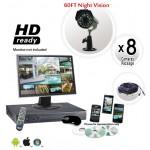 8 Camera CCTV System with H264 DVR