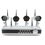 Wireless Camera System with 4 Cameras