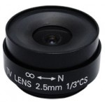 2.5mm Fixed Iris CS Mount Lens