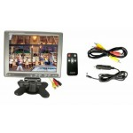 8 inch TFT LCD Monitor With Speaker and Audio Input, includes Car Power Adapter