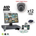 12 Dome Camera System Vandal Proof